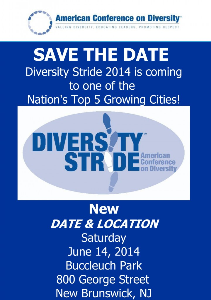 2014 Diversity Stride Walk-a-Thon Save the Date