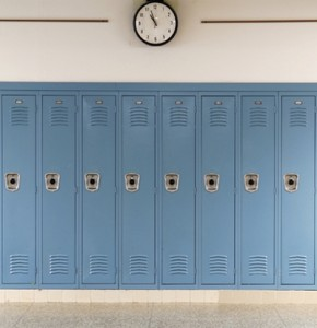 lockers in school