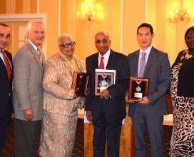 Hudson County Chapter Humanitarian Awards Luncheon Guests enjoy conversation while Puccini Restaurant's pasta course is served.  Puccin's, a Hudson County favorite, has been the Luncheon venue for many years.