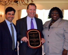 Commercial Real Estate Luncheon honoree MICKY LANDIS (Boston Properties) with Michael Seeve (Mountain Development Corp.) and American Conference on Diversity President & CEO Elizabeth Williams-Riley.