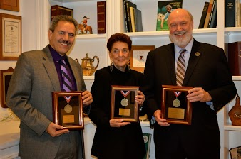 """Adalberto """"Bert"""" Lopez, Diversity Change Maker; Barbara Altman, Community Diversity Advocate; Dr. Herman Saatkamp, accepting on behalf of Community Diversity Advocate The Richard Stockton College of New Jersey Holocaust & Genocide Studies (the Master of Arts in Holocaust & Genocide Studies and the Interdisciplinary Minor in Holocaust & Genocide Studies) - the Sam Azeez Museum of Woodbine Heritage and The Sara and Sam Schoffer Holocaust Resource Center (a joint project of the Jewish Federation of Atlantic and Cape May counties.)"""