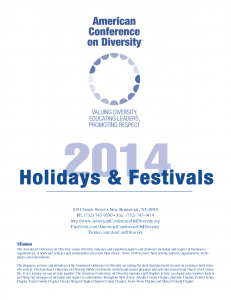 ACOD 2014 Holidays and Festivals Calendar